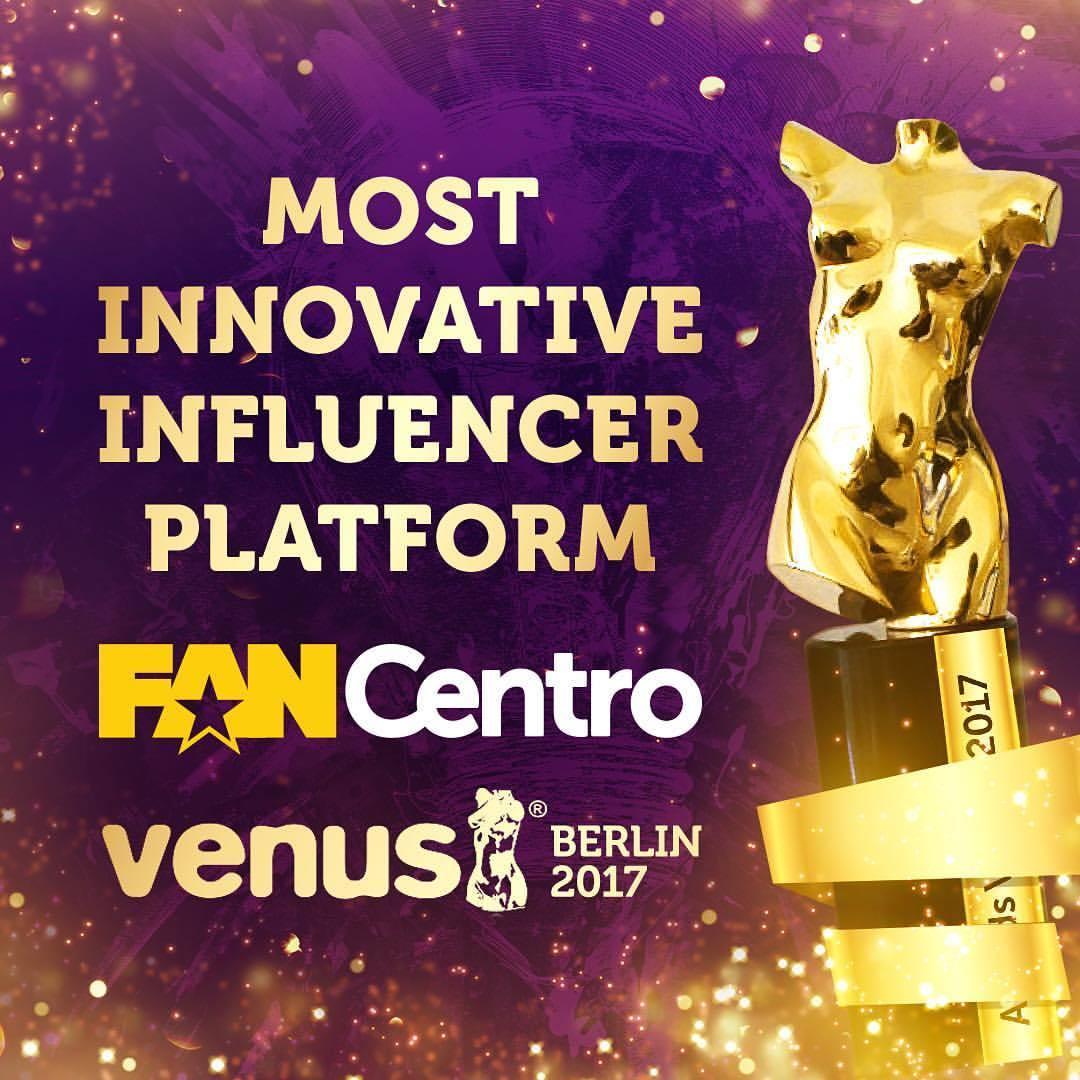 We won Most Innovative Influencer Platform at Venus Berlin!
