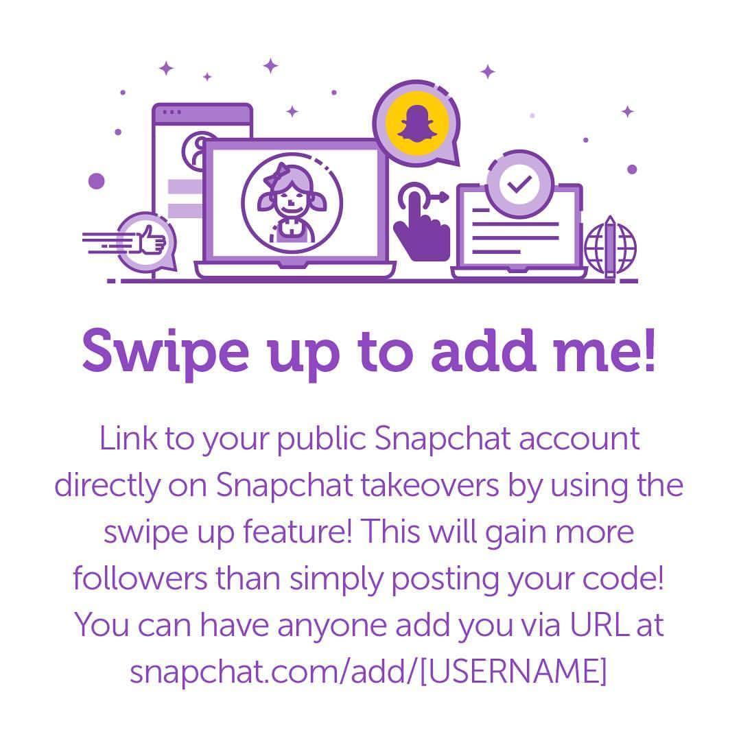 Swipe up to add me!