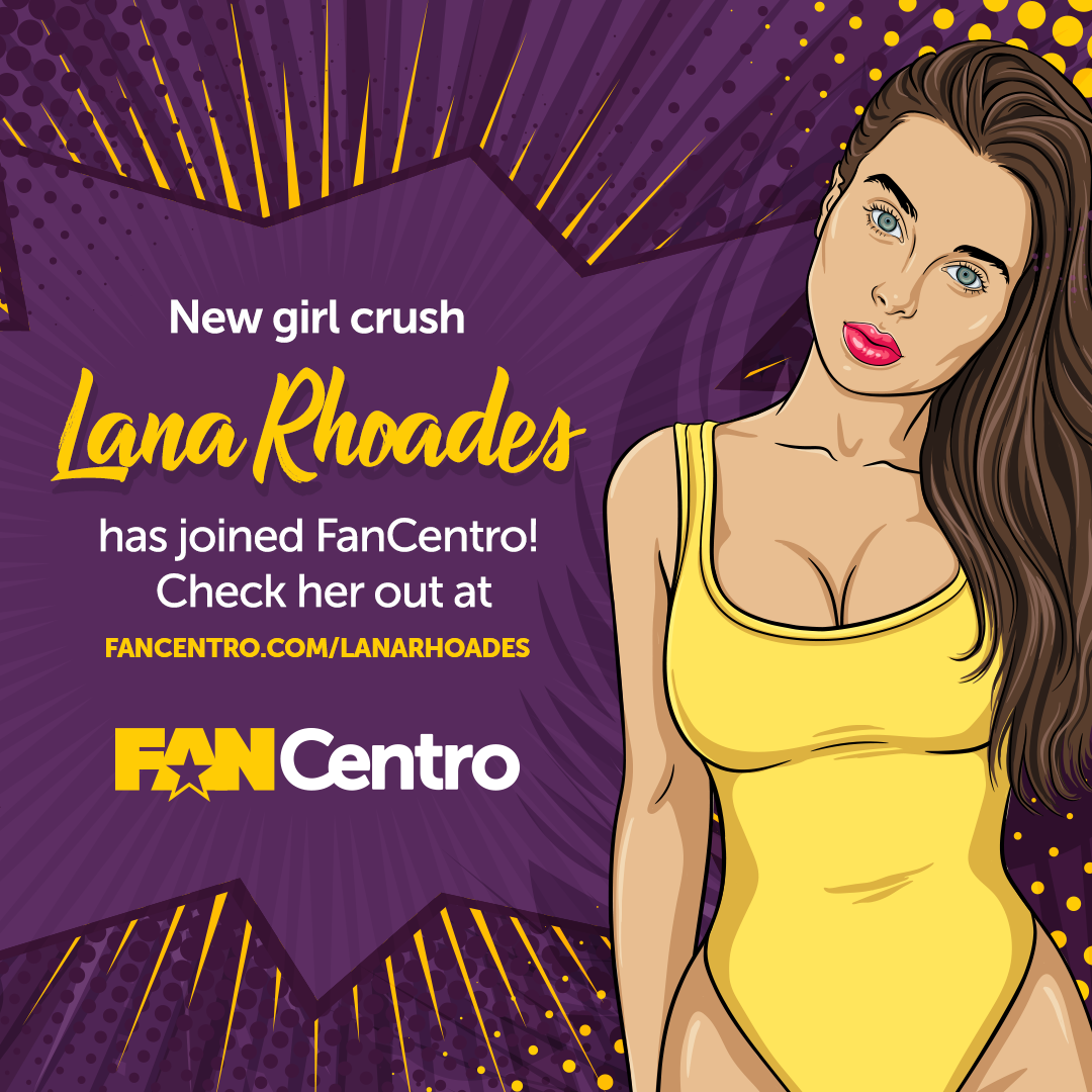 Lana Rhoades Joins FanCentro!